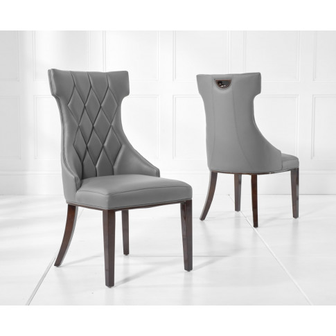 Fredo Grey Leather Dining Chair