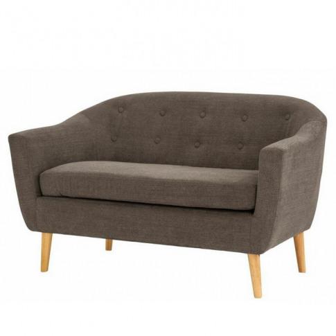 Fulham Graphite Fabric 2 Seater Sofa