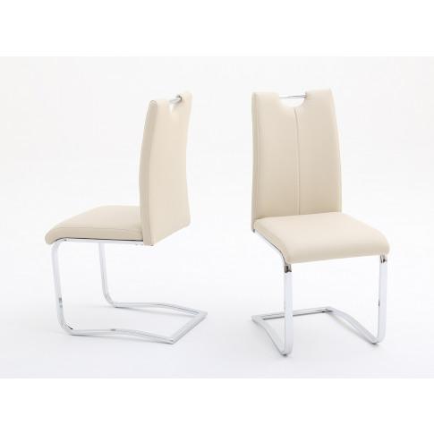Fairmont Gabi Cream Leather Dining Chair