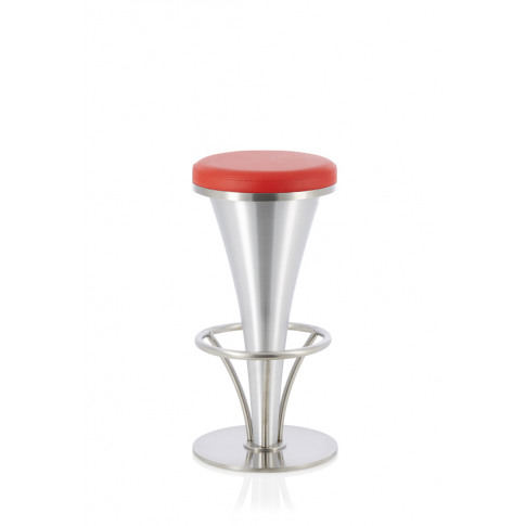 Garland Red Faux Leather Fixed Bar Height Barstool