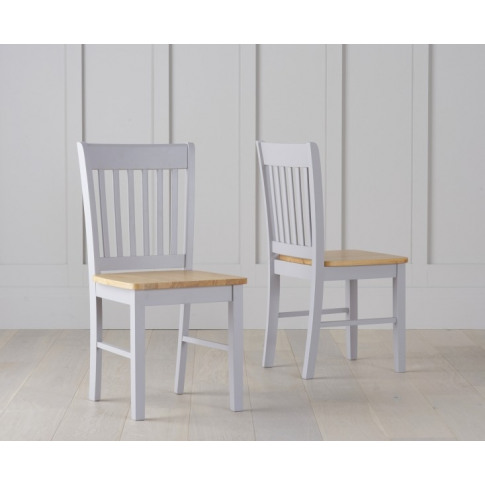 Genovia Oak And Grey Wooden Dining Chair