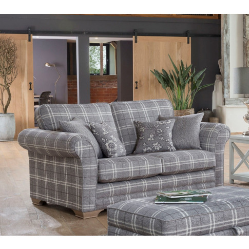 Alstons Georgia 2 Seater Fabric Sofa
