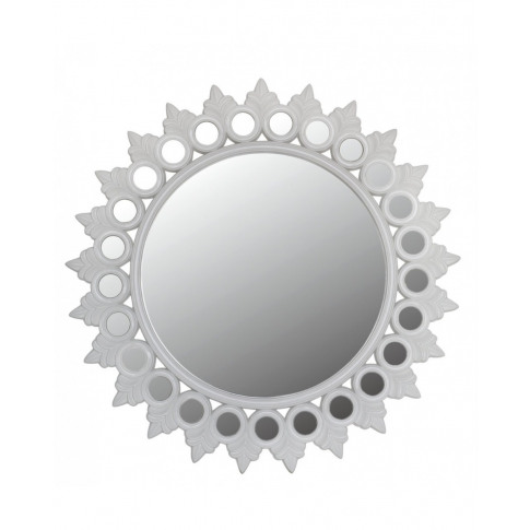 Glossy White Morocco Wall Mirror