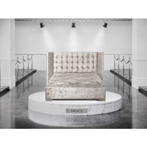 Oliver & Sons Grace 6ft Super Kingsize Fabric Bed