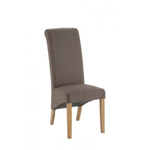 Hampton Black Fabric Dining Chair With Oak Legs