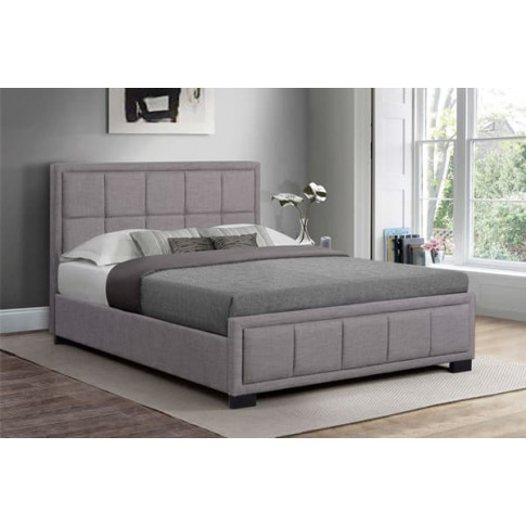 Hannover Grey Fabric 4ft6 Double Bed