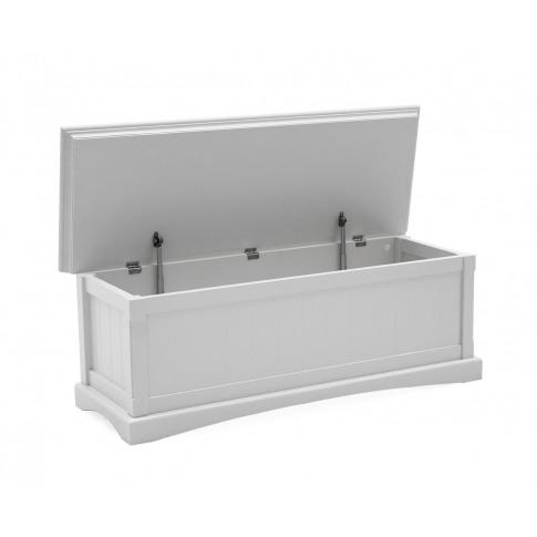 Harlow White Wooden Blanket Box