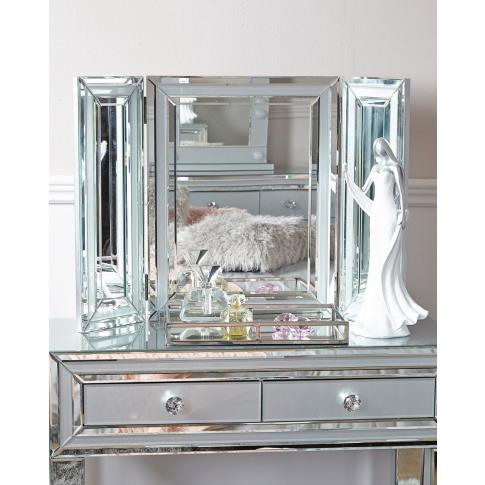 Hatton Grey Glass Vanity Mirror