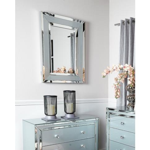 Hatton Grey Glass Wall Mirror