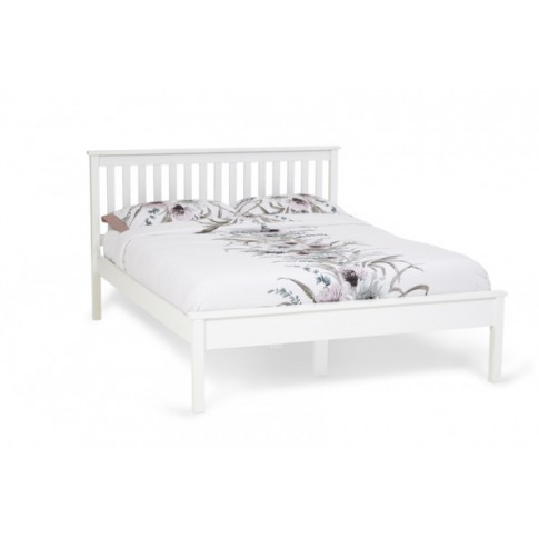 Serene Heather 4ft Small Double Opal White Bed