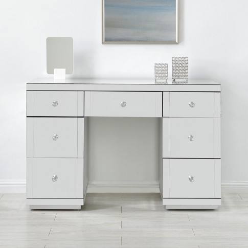 Hollywood Glass 7 Drawer Dressing Table