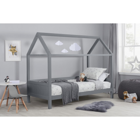 Home Grey Wooden Kids Bed