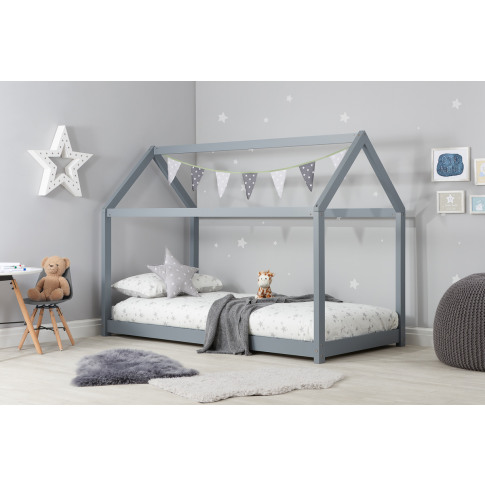 House Grey Pine Kids Bed