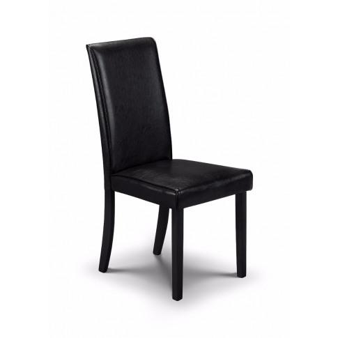 Julian Bowen Hudson Brown Faux Leather Dining Chair
