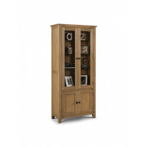 Julian Bowen Astoria Oak Glazed Display Cabinet