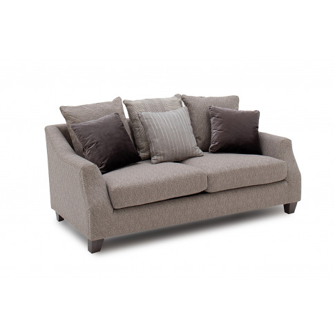 Imogen 2 Seater Grey Fabric Sofa