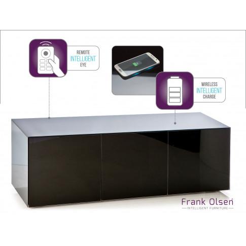 Frank Olsen High Gloss Black 150 Tv Unit
