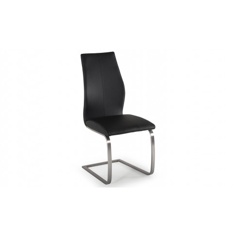 Irma Black Faux Leather Dining Chair