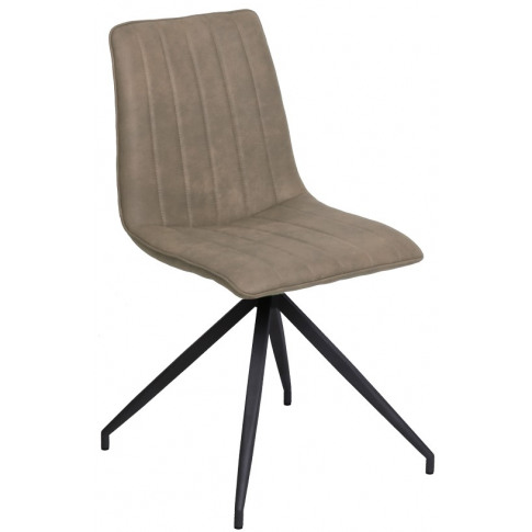 Isaac Taupe Leather Dining Chair