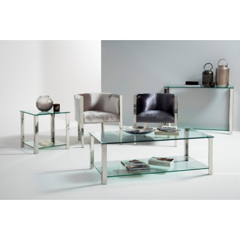 Ivy Silver Console Table