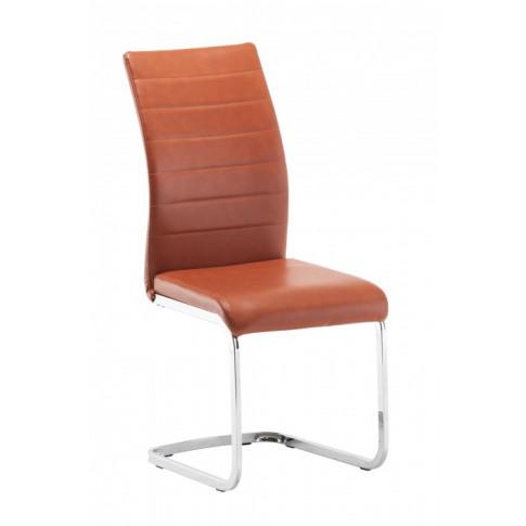 Jasper Burnt Orange Faux Leather Dining Chair