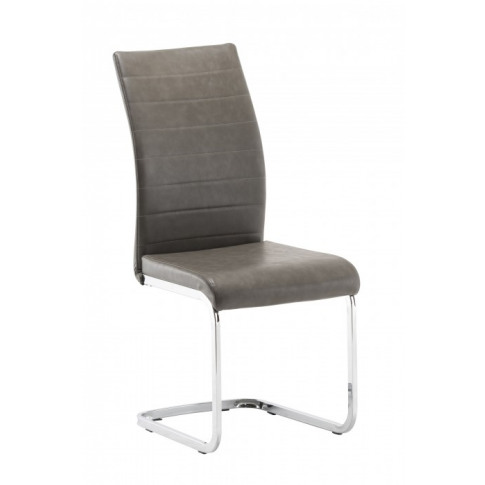 Jasper Grey Faux Leather Dining Chair