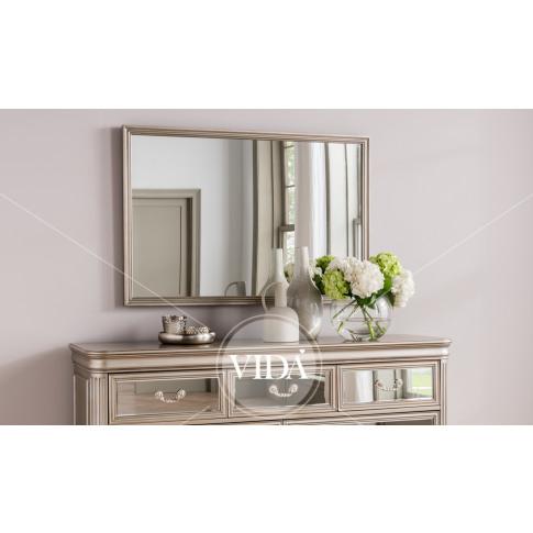 Jessica Taupe Large Mirror