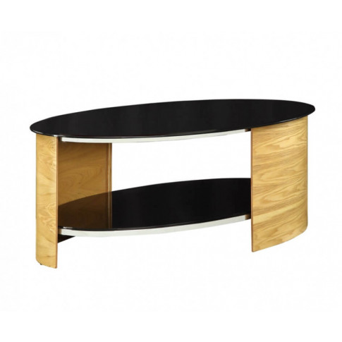 Jual Jf301 Curved Oak Oval Coffee Table