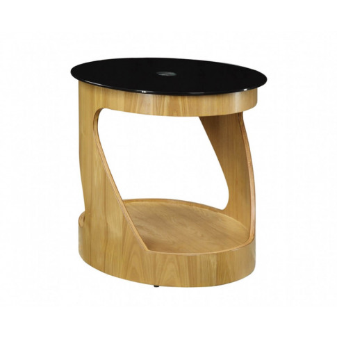 Jual Jf304 Curved Oak Oval Lamp Table