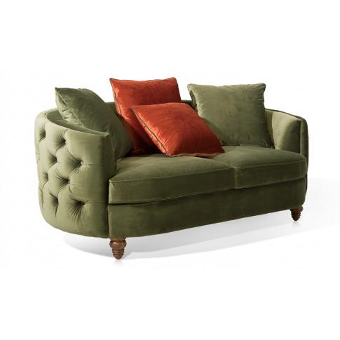 Jools 2 Seater Olive Velvet Sofa