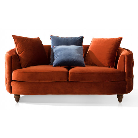 Jools 3 Seater Copper Velvet Sofa