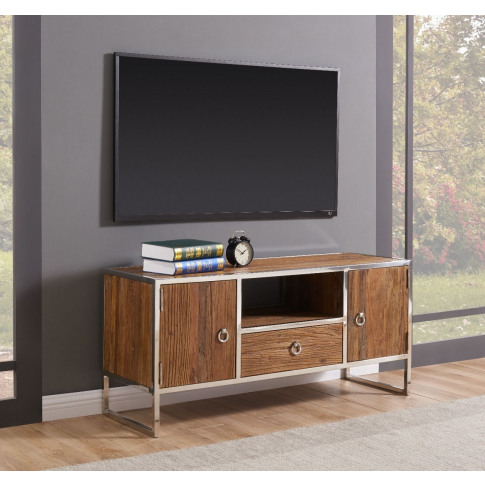 Malmo Walnut Effect Wooden Tv Unit