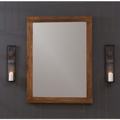 Malmo Walnut Effect Wooden Mirror