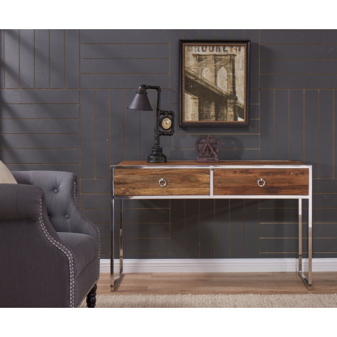 Malmo Walnut Effect Wooden Console Table