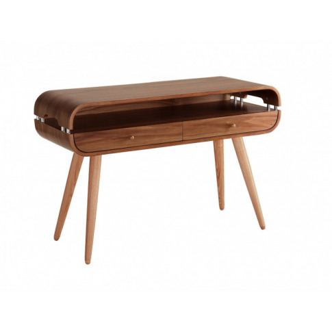Jual Jf705 Curved Walnut Console Table