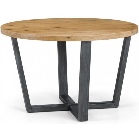 Julian Bowen Brooklyn Solid Oak Round Dining Table