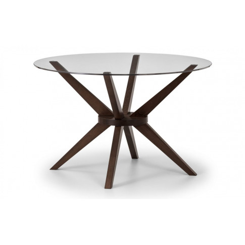 Julian Bowen Chelsea Glass 140cm Round Large Dining Table