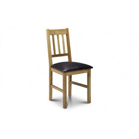 Julian Bowen Curve Solid Oak Dining Chair