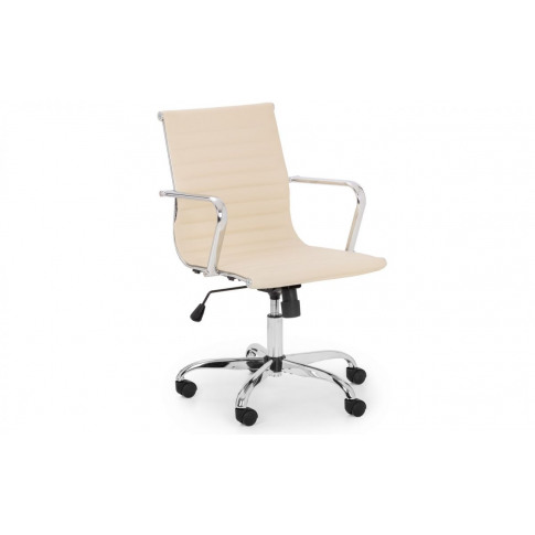 Julian Bowen Gio Upholstered Ivory Faux Leather Offi...