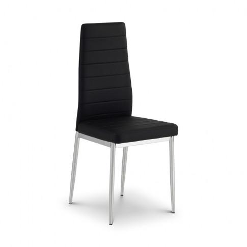 Julian Bowen Greenwich Black Faux Leather Dining Chair