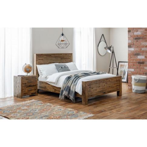 Julian Bowen Hoxton Rustic Oak 5ft Kingsize Bed