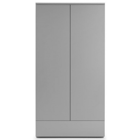 Julian Bowen Monaco Grey Gloss 2 Door 1 Drawer Wardrobe