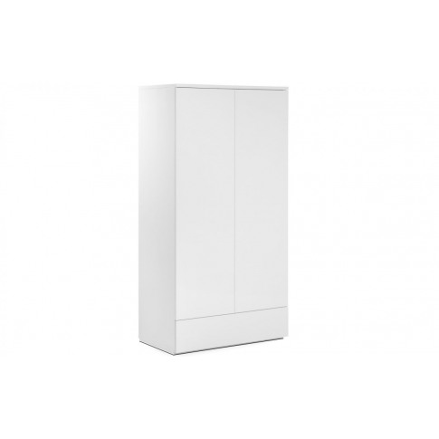 Julian Bowen Monaco White Gloss 2 Door 1 Drawer Wardrobe