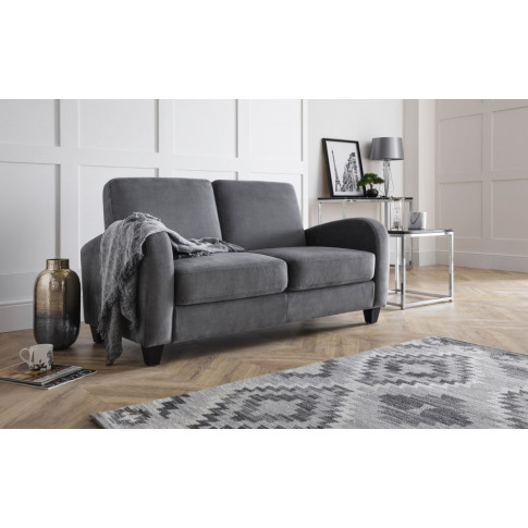 Julian Bowen Vivo Dusk Grey Chenille Fabric 2 Seater...