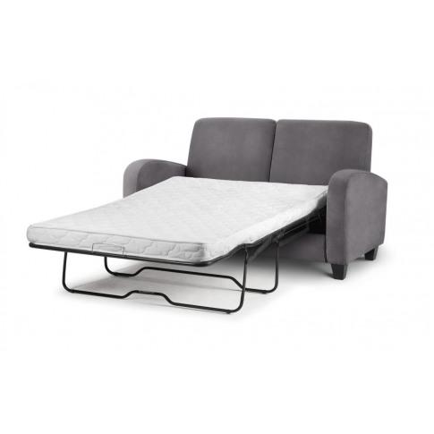 Julian Bowen Vivo Dusk Grey Chenille Fabric Sofa Bed