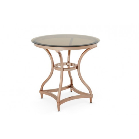 Serene Juliet Smoked Glass With Rose Gold Lamp Table