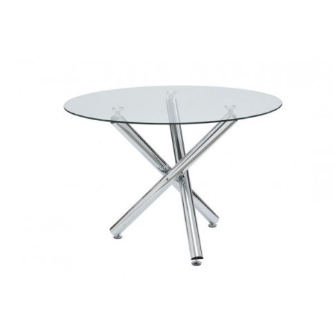 Kansas 106cm Round Clear Glass Dining Table