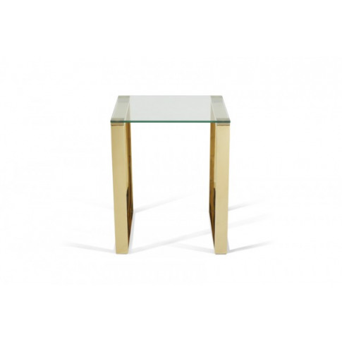 Serene Kayla Glass Top With Gold Lamp Table