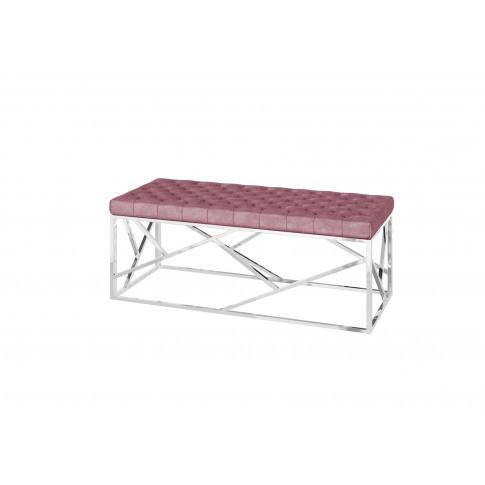 Fairmont Kieta Upholstered Pink Velvet Bench