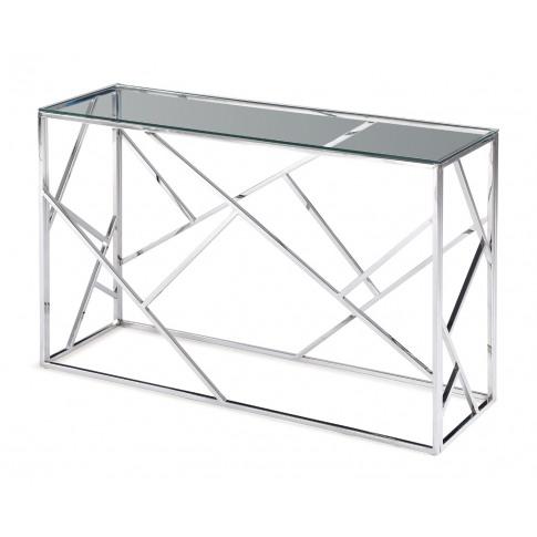 Fairmont Kieta Clear Glass Console Table